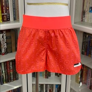 Adidas StellaSport Red Woven Wide Band Shorts